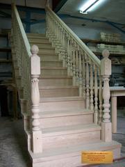 Деревянные лестницы под заказ в Кемерово